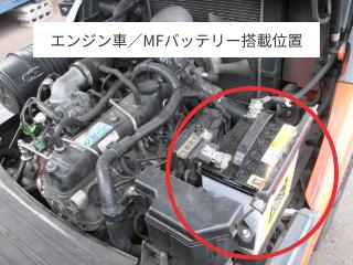 エンジン車/MFバッテリー搭載位置