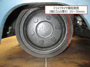 ドライブタイヤ リーチ式 交換