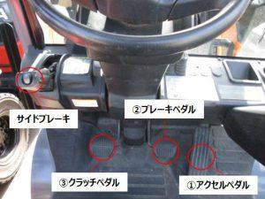 フォークリフト クラッチ式 ペダル