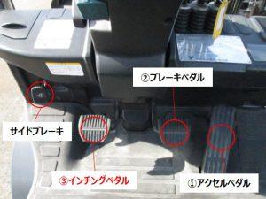 フォークリフト トルコン式 オートマ ペダル