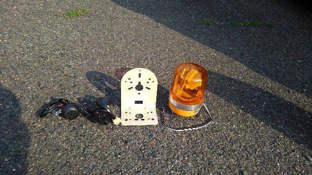 ピッカー 安全対策 回転灯 前進チャイム 後進チャイム 取付作業